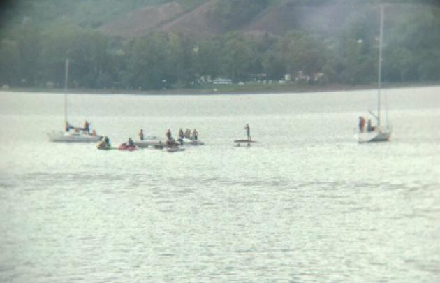 Dos embarcaciones sufrieron inconvenientes por la lluvia.