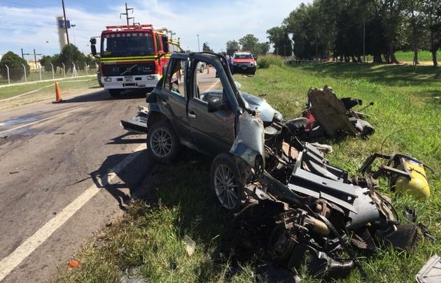 Cuatro jóvenes murieron en un accidente en Totoral