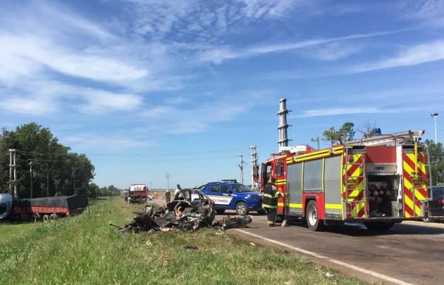 Cuatro jóvenes fallecieron en un accidente en Totoral.