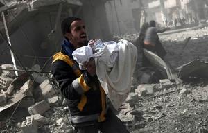 En tres días murieron 250 personas por ataques en Siria