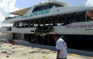 El accidente se produjo por una falla mecánica en el buque.