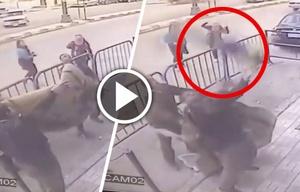 Policías agarraron a un niño de cinco años que cayó de un 3er piso