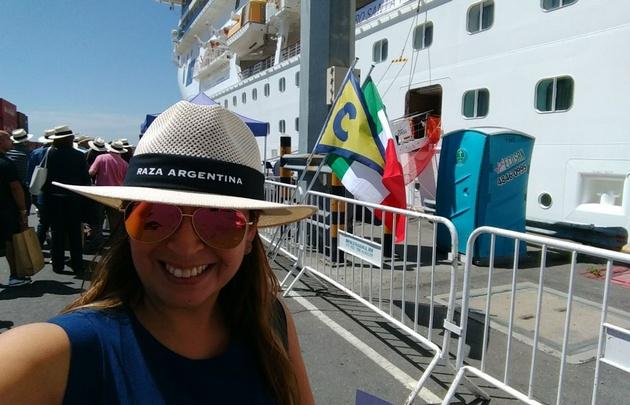 Yeny Ortega en el Crucero Costa Fascinosa