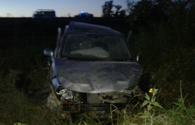 Así quedó el Nissan TIIDA tras el accidente.