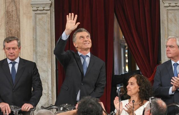 Macri abrió el jueves las sesiones ordinarias en el Congreso.
