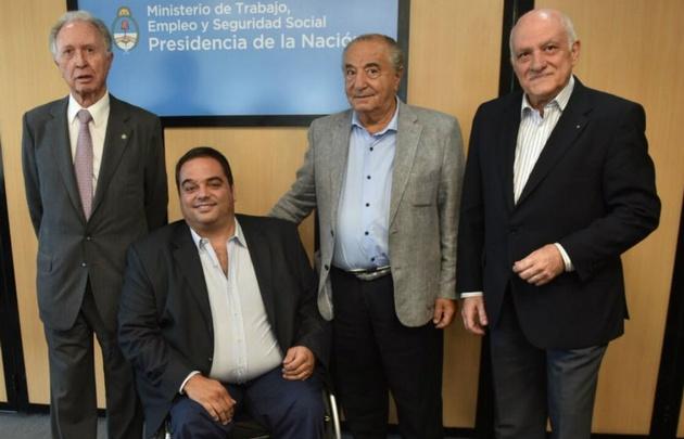 De izquierda a derecha: Di Fioeri, Triaca, Cavalieri y Tarrío.