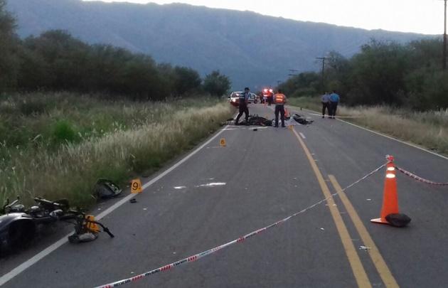 Tres muertos tras un triple choque de motos en Traslasierra.