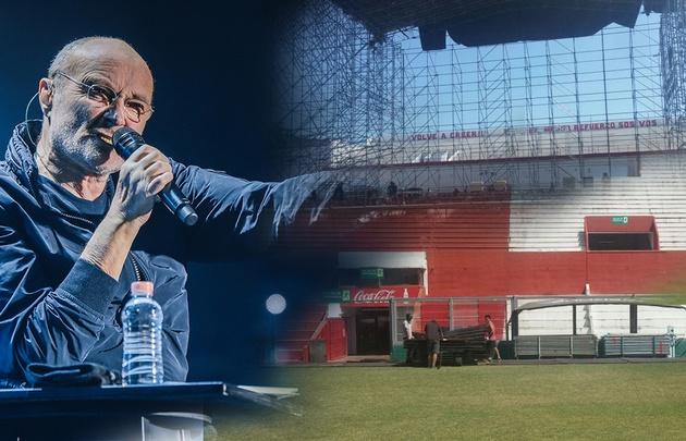 El Estadio de Instituto se prepara para el show de Phill Collins