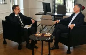 El jefe de Estado fue entrevistado por el periodista Luis Majul.