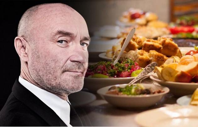 Phil Collins cuenta con una dieta normal y sana.
