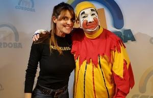 Piñón Fijo y Flavia Irós en el estudio de FM Córdoba