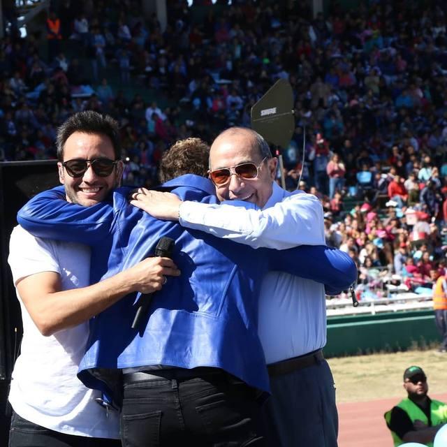 FOTO: Luciano Pereyra y David Bisbal hicieron una selfie de rigor