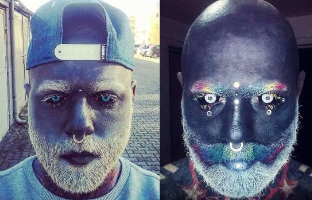 FOTO: Hombre tatuado