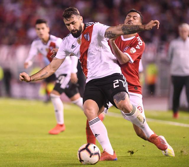 FOTO: River rescató un agónico empate ante Inter de Porto Alegre