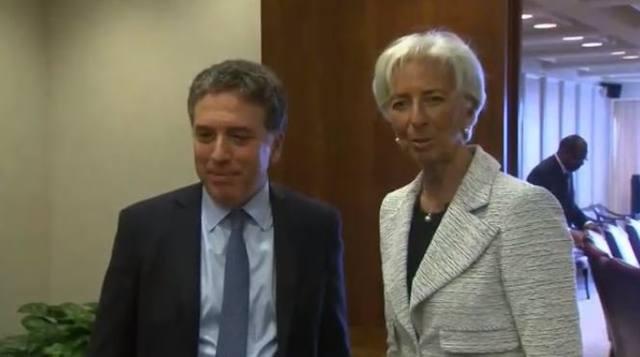 FOTO: Dujovne y Lagarde, reunidos en la sede del Fondo en EE.UU.