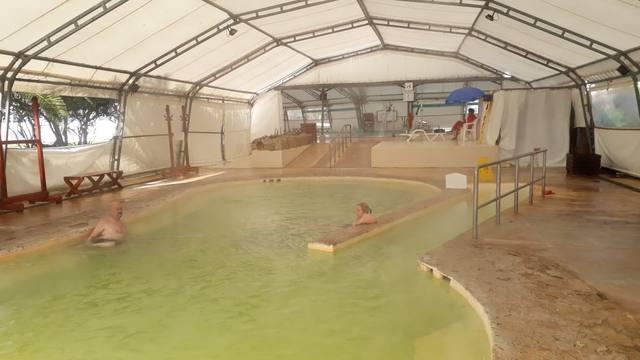 FOTO: Cálido baño termal en San Clemente del Tuyú