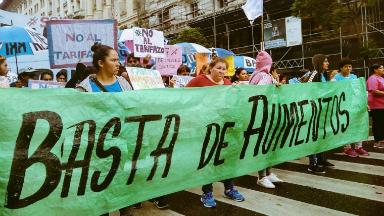 AUDIO: Barrios de Pie protestó contra el tarifazo