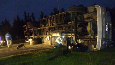 AUDIO: Accidente en la entrada a Villa Allende