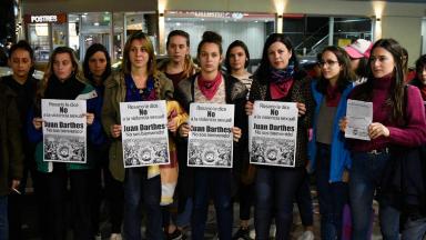 AUDIO: Mujeres repudiaron la presencia de Juan Darthés en Rosario