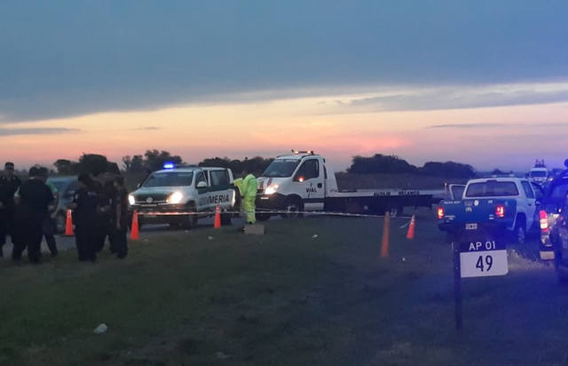 FOTO: El hombre fue cercado a la altura del km 40 de la autopista