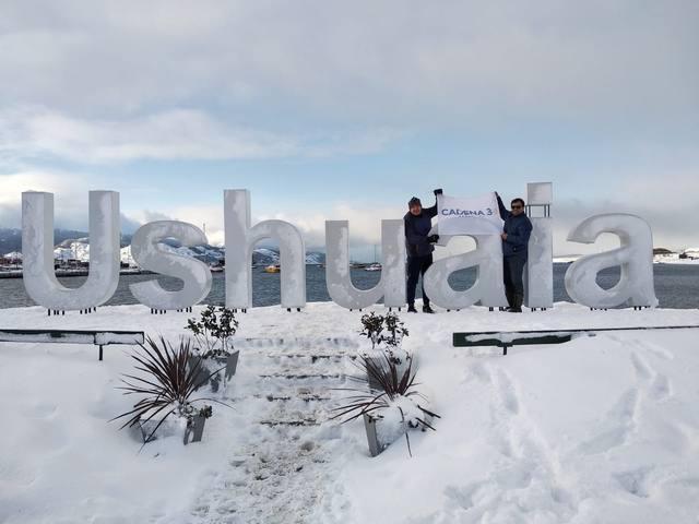FOTO: Recorré el puerto de Ushuaia junto a Guille Hemmerling