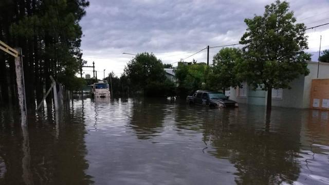 FOTO: Leones y Justiniano Posse, afectadas por la inundación.