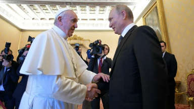 AUDIO: Francisco recibió a Putin en el Vaticano