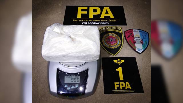 FOTO: Secuestraron dos kilos de cocaína en San Francisco