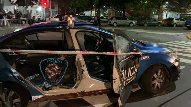 AUDIO: Persecución y choque en Caballito: hay 3 detenidos