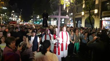 AUDIO: Miles de fieles en el Vía Crucis en Buenos Aires