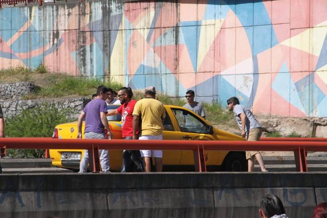 FOTO: Incidentes en la marcha de taxistas en Córdoba
