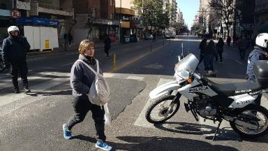AUDIO: Caos de tránsito en el centro de Córdoba por manifestaciones