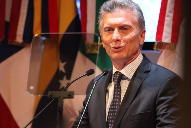 FOTO: Mauricio Macri, este martes, en el Congreso de la Lengua