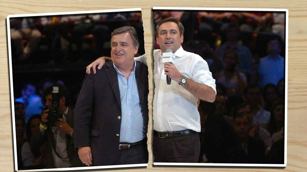 FOTO: Negri y Mestre, los candidatos enfrentados.