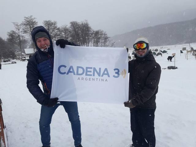 FOTO: Paseo en trineo por el paisaje nevado de Ushuaia