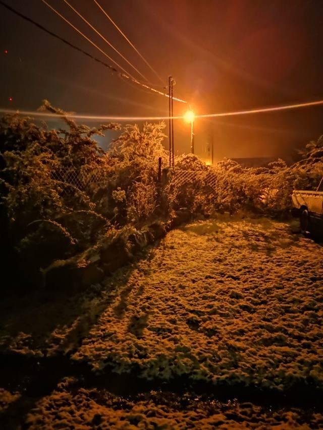 FOTO: La primera nevada llegó a La Cumbrecita