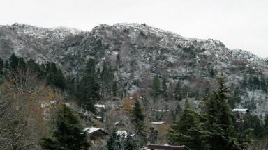 AUDIO: Primeros copos de nieve en La Cumbrecita