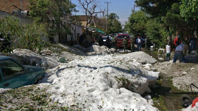 FOTO: Una increíble tormenta de granizo azotó a Guadalajara
