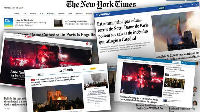 FOTO: En todo el planeta los medios cubrieron el incendio.