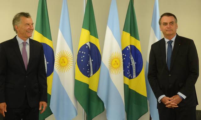 FOTO: Macri y Bolsonaro hablaron de