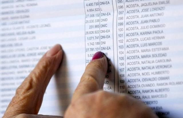 FOTO: Consultá el padrón para ver si cambió tu lugar de votación