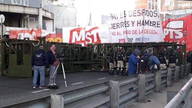 FOTO: Cómo se sintió el quinto paro de la CGT contra Macri