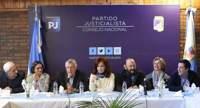 FOTO: Cristina Fernández participó de la cumbre del PJ