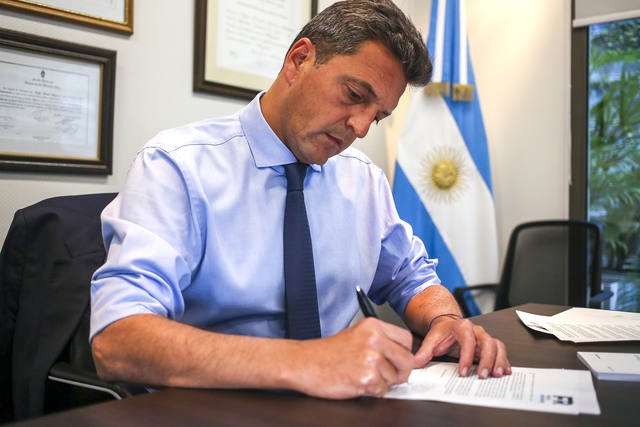 FOTO: Massa le contestó por carta al presidente Macri.