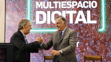 AUDIO: Schiaretti inauguró el multiespacio digital