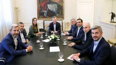 AUDIO: Macri recibió a gobernadores de Cambiemos en Casa Rosada