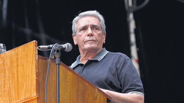 FOTO: Carlos Acuña, uno de los jefes de la central obrera.