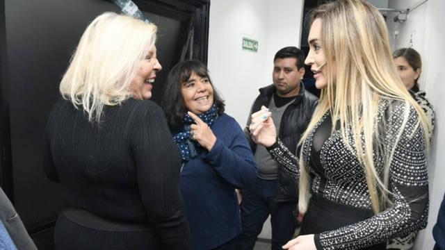 FOTO: Fátima Florez imitó a Cristina y discutió con Carrió
