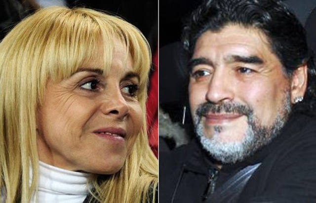 FOTO: Claudia Villafañe y Diego Maradona más enemistados que nunca.