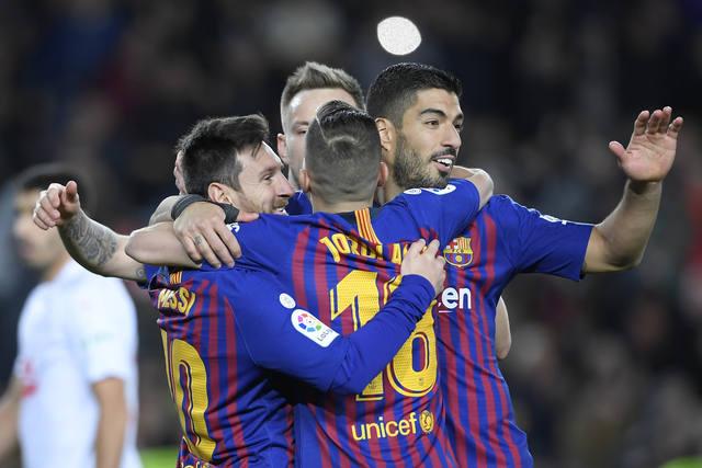 FOTO: Messi llegó a su gol liguero 400 en el triunfo de Barcelona